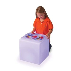 Roylco light cube table with child