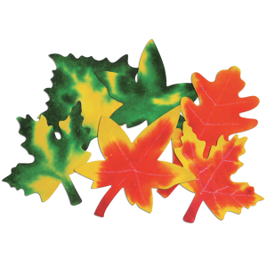 Color diffusing paper leaves