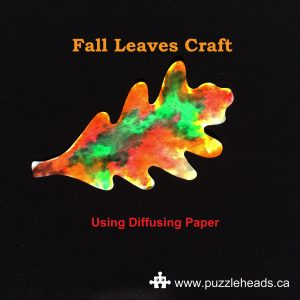 Roylco color diffusing leaves easy paper craft.
