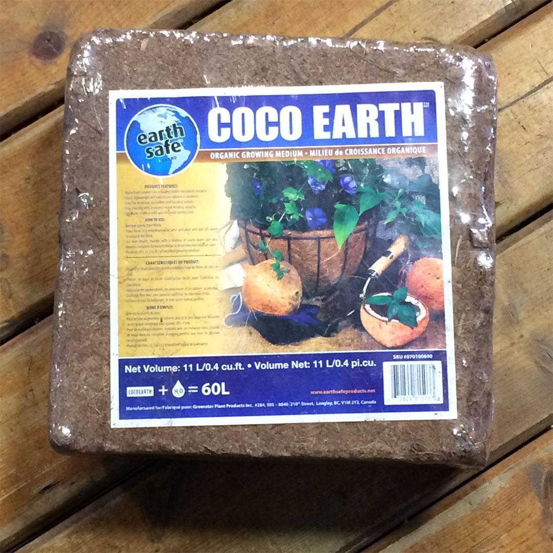 Coir brick commercially available.
