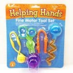 Helping Hands Fine Motor Tool Set of 4 pincers, grabbers and picker uppers.