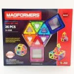 Magformers 26 piece rainbow set.