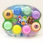 Playfoam 8 pack variety with 4 sparkle colors.