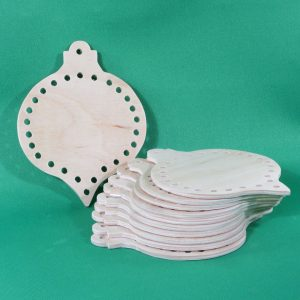 Handmade wooden shaped-lacing-ornament-pack-of-10
