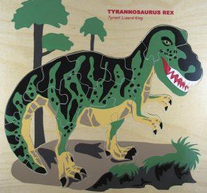 Trex Dinosaur wooden puzzle.