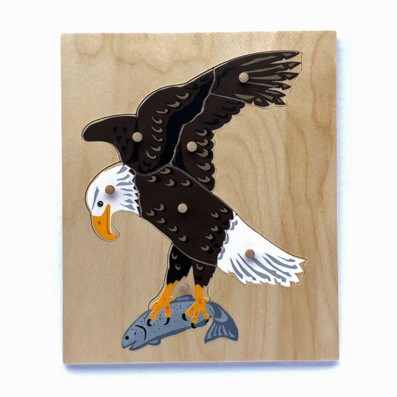 Wooden Bald Eagle puzzle.