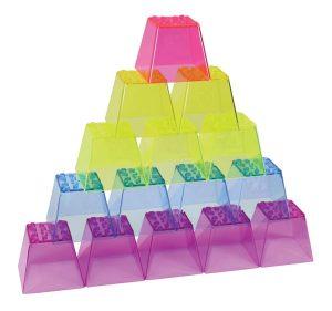 Roylco crystal color stacking blocks.
