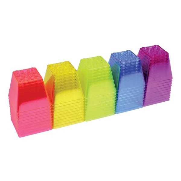 Roylco crystal color stacking blocks.