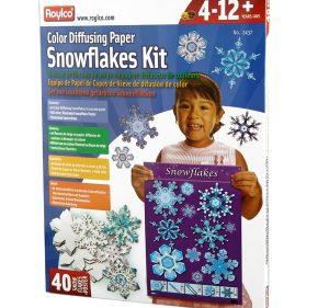 Roylco Snowflake Color Diffusing paper kit