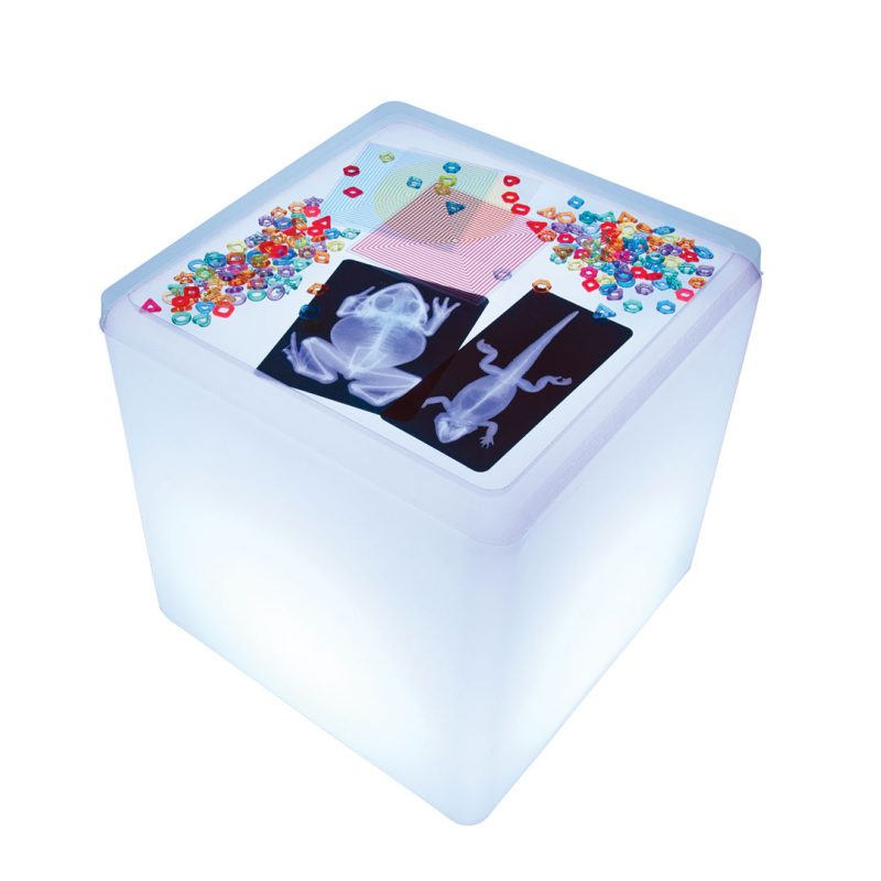 Contents of the Accessory kit displayed on a Light Cube.
