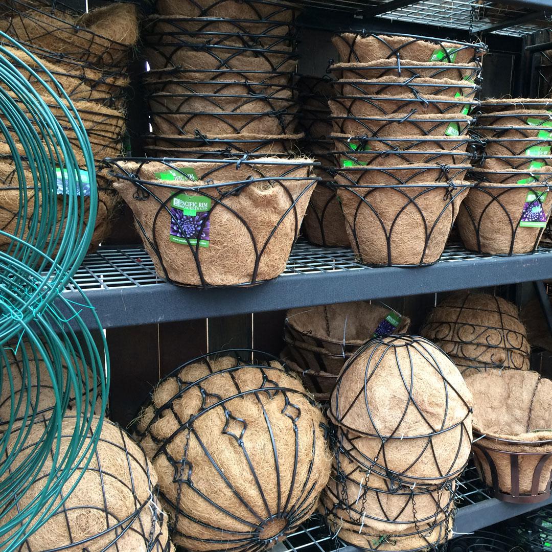 Eco friendly coir basket liners.