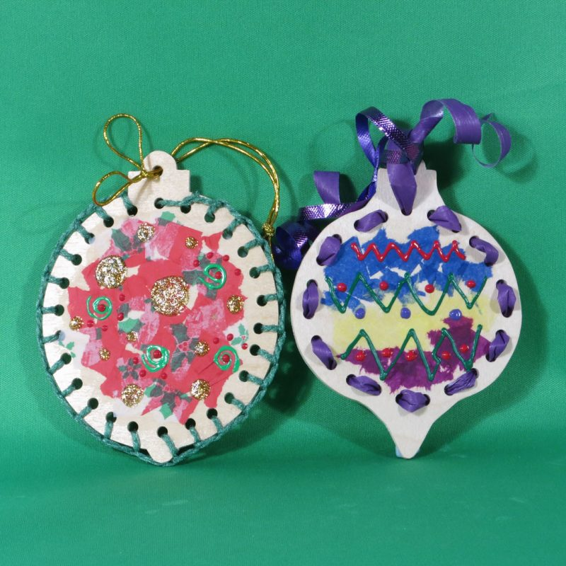 Handmade wooden lacing-ornaments-decorated.