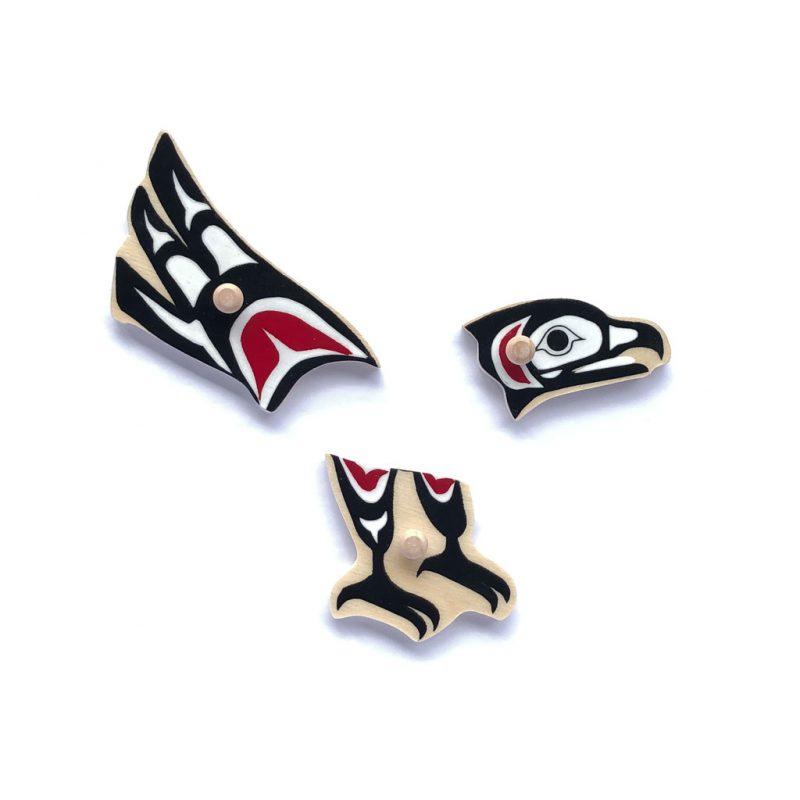 Eagle clan puzzle pieces.