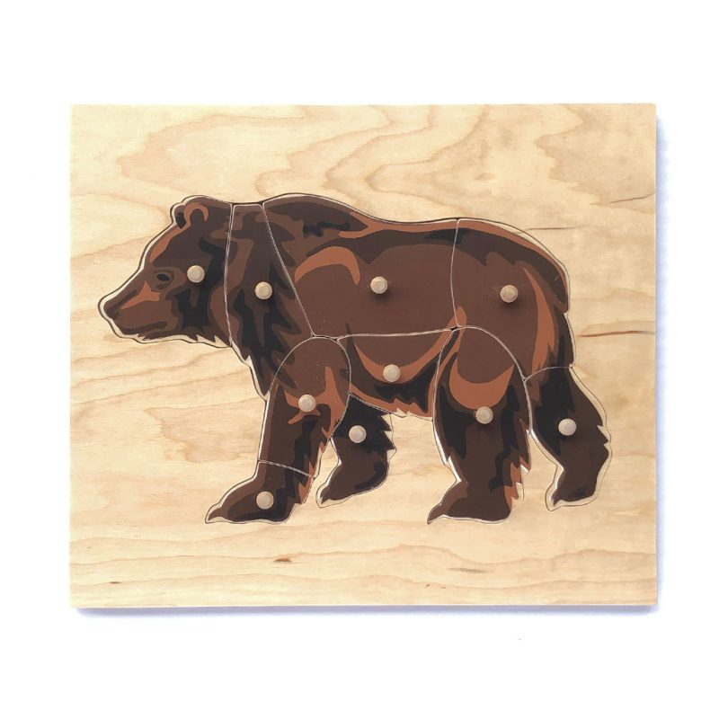 Wooden bear puzzle.