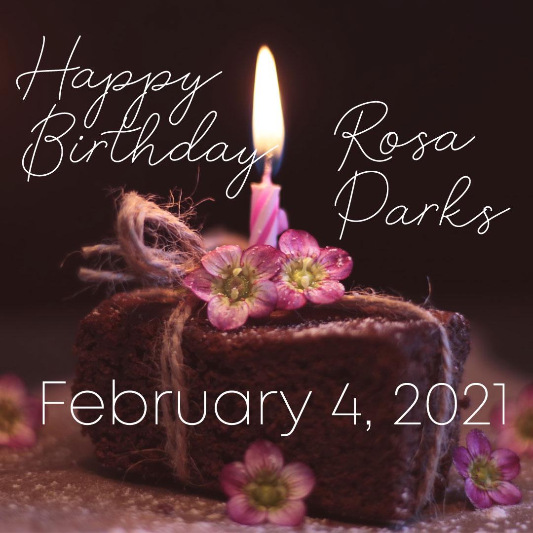 Happy Birthday Rosa Parks brownie cake.