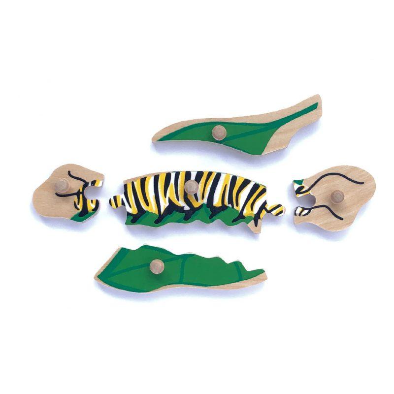 Wooden Monarch puzzle parts..