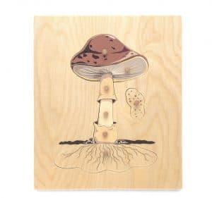 Mushroom Montessori nomenclature puzzle.