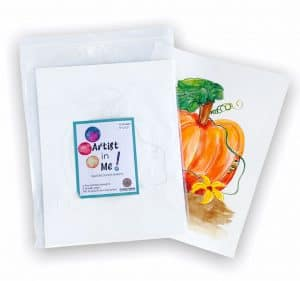 Pumpkin watercolour sheets package with samples.
